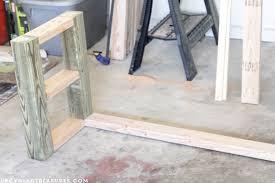 rustic furniture diy. Making-a-rustic-console-table-upcycledtreasures Rustic Furniture Diy