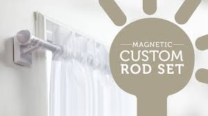 Magnetic Curtains For Doors How To Easily Hang Curtains On Metal Doors And Windows Youtube