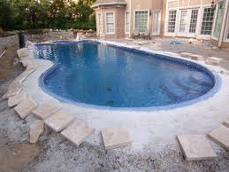 ... Magnificent Swimming Pool Design With Custom Pool Coping : Gorgeous  Image Of Backyard Landscaping Decoration Using
