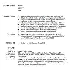 Modern Cv Sample Sample Modern Cv Template 7 Download Free Documents In Pdf