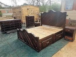 king size pallet bed pallet king size bed wood stuff pinterest king size pallets