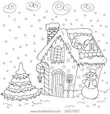 Gingerbread House Coloring Pages Awesome Full House Coloring Pages
