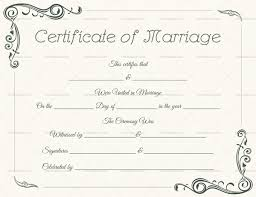 Wedding Certificate Template Amazing Marriage Certificate Template Write Your Own Certificate