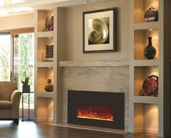 built in wall mount fireplaces with mantle design beside built in electric