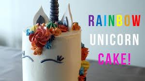 how to make a rainbow unicorn cake bake bites