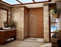 Brown Tiles Bathroom Stainless Steel And Brown Tiles Wall Small Bathroom Walk In Shower