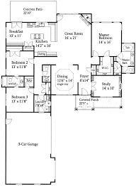 Open Floor Plan Split Ranch - 24352TW floor plan - Main Level