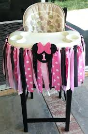 minnie mouse high chair pink fabric banner by diy argos seat minnie mouse