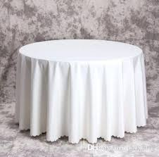 round fabric tablecloths top big size polyester white round table cloth wedding tablecloth throughout white round round fabric tablecloths
