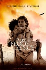 explain how the setting in the film rabbit proof fence directed  rabbit proof fence film