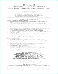 Warehouse Jobs Resume