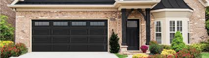 C  Steel Garage Door 8300SteelRanchBlackStocktonIIjpg