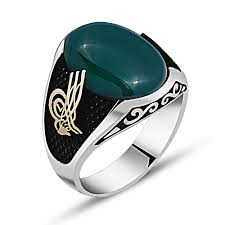 Silver Stone Ring Designs Oval Green Agate Stone Silver Ring Boutique Ottoman Exclusive