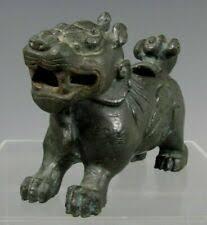 Собаки Фу железные первичные антикварные китайские ...