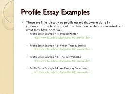 profile essay example  profile essay example