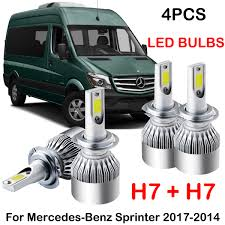 Mercedes Sprinter Side Light Bulb H7 H7 Front Headlight Right Side Electric With Motor For