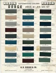 Details About 1940 1941 1942 1946 And 1947 Dodge Car Paint Chips Dupont Nason