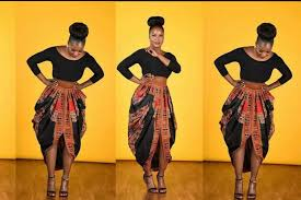 African Skirts Patterns Awesome Part 48○One Yard Dashiki Skirt○ Cowl Skirt YouTube