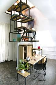 A Staircase Storage Unit And Desk In One F ...