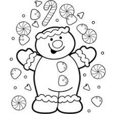 Free Christmas Printables Color Pages These Would Be Gingerbread Man