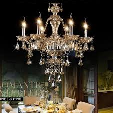 luxury cognac color crystal chandelier lamp restaurant with regard to modern residence fake candle chandelier remodel
