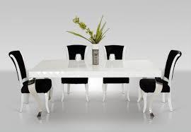 versus mia modern white lacquer dining set