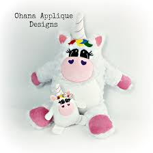 Unicorn Stuffie In The Hoop Designs Machine Embroidery Designs - Home machine embroidery designs