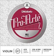 D'Addario J56 4/4M Pro-Arte Nylon violin Strings ... - Amazon.com