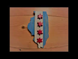 how to make a chicago flag wall decoration illinois wall art diy