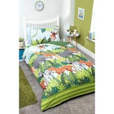 single duvet boys jungle set childrens covers asda
