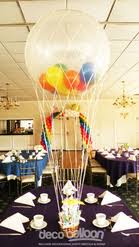 Rainbow Hot Air Balloon Centerpiece