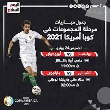 مواعيد مباريات اليوم الخميس 24-6-2021 والقنوات الناقلة - اليوم السابع
