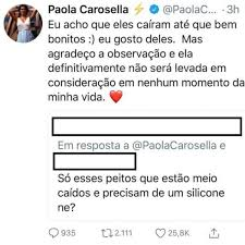 Paola Carosella, do 'MasterChef', rebate crítica aos seus seios no Twitter