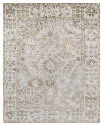farand french antique wash silver gray ivory silk rug 4x6 traditional area rugs by kathy kuo home