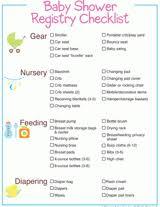 Baby Check List Baby Shower Registry Checklist Free Printable Basic Baby