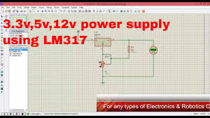 Power Supply Design Using Lm317 Variable Power Supply Using Lm317 In Proteus