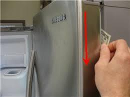 refrigerator door seal. refrigerator seal dollar bill test door -