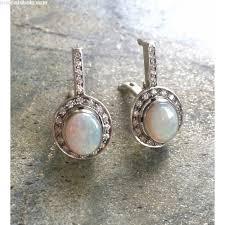 opal earrings natural opal earrings australian opal natural opal vintage opal vintage earrings antique opal solid silver pure silver