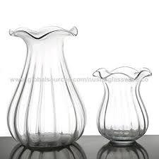 large handmade clear art glass vase china large handmade clear art glass vase