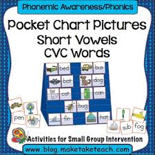 Short Vowels Consonant Vowel Consonant Words Pocket Chart Pictures