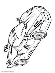Ferrari Coloring Pages Free Printable Sports Car Pictures