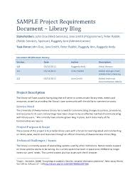 requirements document template sample project requirements document library blog