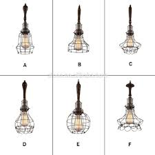 decorative pendant lighting. Decorative Pendant Lighting Vintage Industrial Style Lights Edison Bulb With Wooden Wire Cage Light - Buy Lights,Cheap N