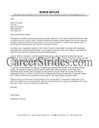 Teacher Cover Letter Sample Cover Letter Database