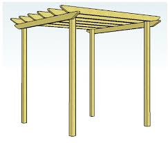 Small Picture Copyright image Simple pergola design 2 with unnotched rafters