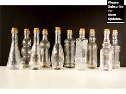 Decorative Liquor Bottles Glass Bottle Decoration Decor Pictures Ideas YouTube 31