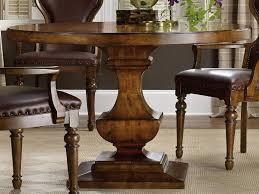 furniture tynecastle medium wood 48 wide round pedestal dining table hoo532375203