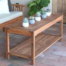 modern wood patio furniture. Amazon.com : Walker Edison Furniture Company Solid Acacia Wood Patio Coffee Table - Brown Garden \u0026 Outdoor Modern L