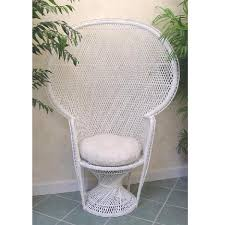 white wicker chair. Where To Find WHITE WICKER CHAIR WITH PAD In St. Petersburg White Wicker Chair