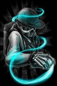 neon skull wallpaper to your